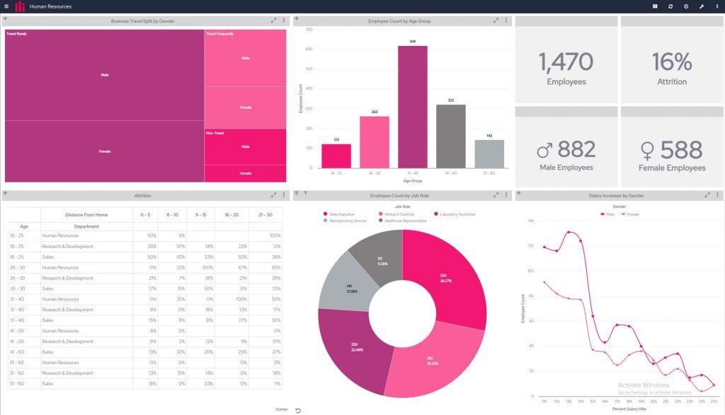 Business Intelligence dashboard - PI